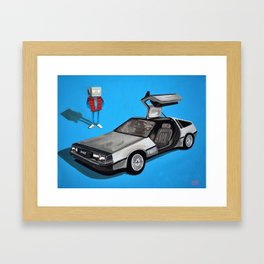 Delorean and Me, a Back to the Future Tribute Framed Art Print
