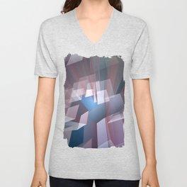 Kissing the sky, geometric fractal abstract Unisex V-Neck