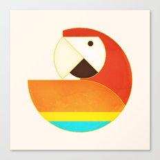 Round Bird - Macaw Canvas Print