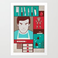 dexter Art Prints featuring Dexter by Josè Sala