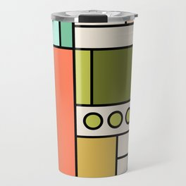 Blocked Modern Cubist Design Travel Mug
