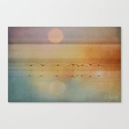 In The Misty Moonlight Canvas Print