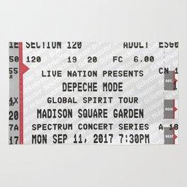 Concert Ticket Stub - DepecheMode Rug
