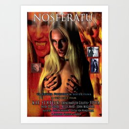 Nosferatu vs. Father Pipecock & Sister Funk (2014) -Movie Poster Art Print