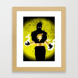 Black Adam Framed Art Print