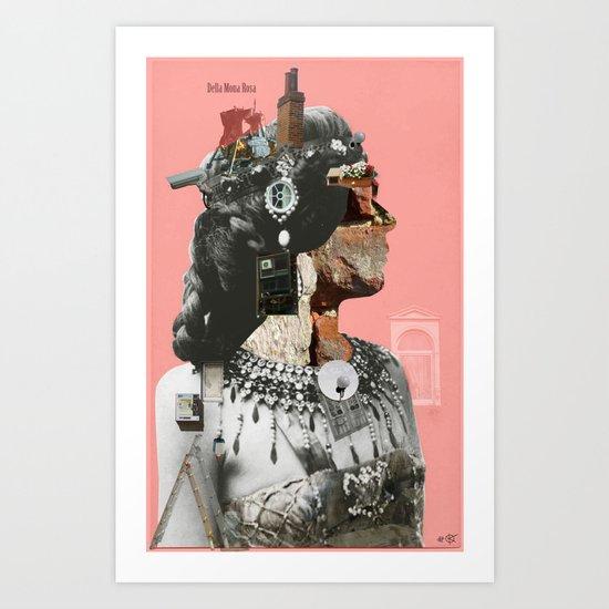 Crazy Woman - Della Mona Rosa Art Print