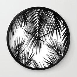 Palm Leaf Jungle Vibes #3 #tropical #decor #art #society6 Wall Clock