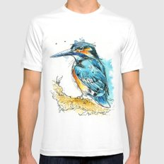 Regal Kingfisher White MEDIUM Mens Fitted Tee
