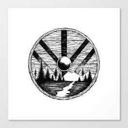 Viking shield Canvas Print