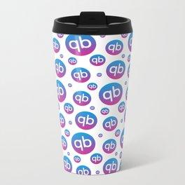 qiibee Pattern Dark Metal Travel Mug