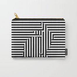 Rabbit on Stripes Carry-All Pouch