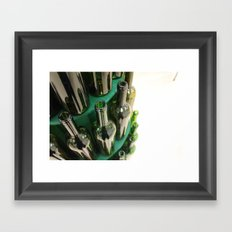 wine bottles Framed Art Print