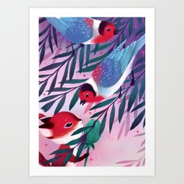 Perrin and the Warbler's Willow Art Print