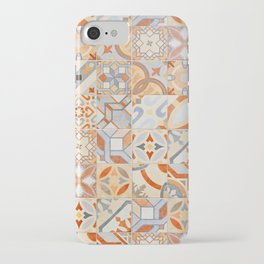 New decorative fashion trend. Mosaic of Hydraulic cement tiles  iPhone Case