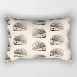cute beige woodland animal baby hedgehog Rectangular Pillow