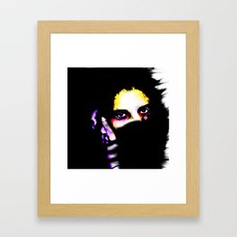 Against the Cold Framed Art Print