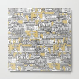 Paris toile gold Metal Print