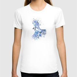 Blue Jay - Colorful Watercolor Bird Painting - Bluetiful T-shirt