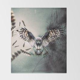 Duality Owl Throw Blanket