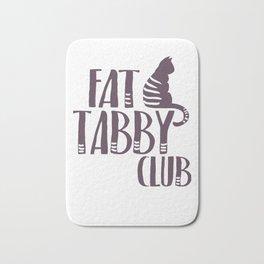 Fat Cat Tabby kitty Bath Mat