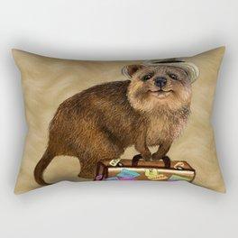 Traveller // quokka Rectangular Pillow