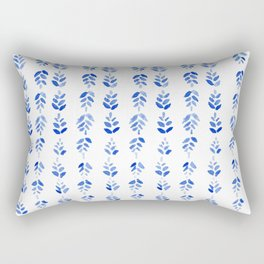 Indigo Blossom - nature watercolour pattern Rectangular Pillow