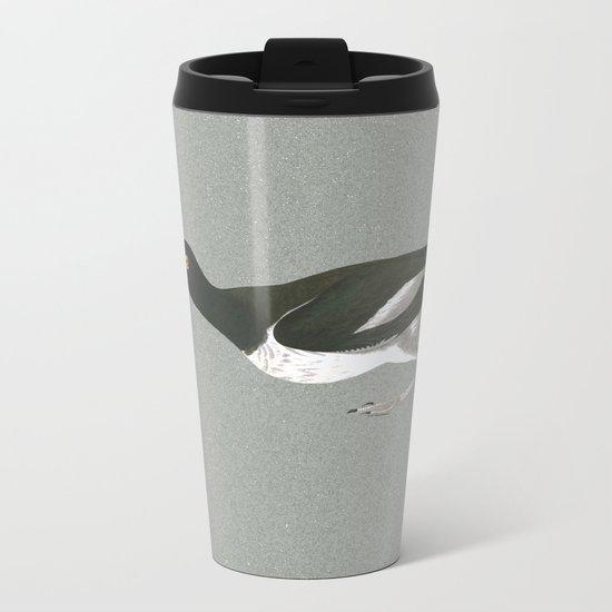 Oystercatcher on the run Metal Travel Mug