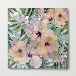 Vintage Tropical Metal Print