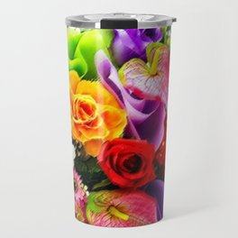 Bouquet of Roses, Carnations, Lilies, Tulip Still Life Painting by Jeanpaul Ferro Travel Mug