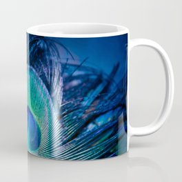 Peacock Feather Blush Coffee Mug