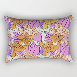 Yellow Lilies and Orchids Rectangular Pillow