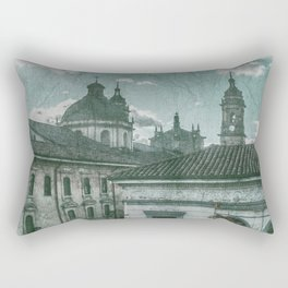Colonial Architecture at Historic Center of Bogota Colombia Rectangular Pillow