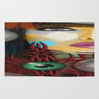 trippy Area & Throw Rugs featuring Trippy by Müge Başak