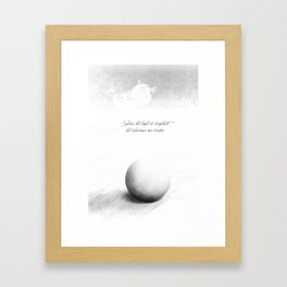 light is brighter Framed Art Print