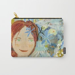 Patti's Flowers Carry-All Pouch