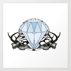 Diamond and skulls Art Print