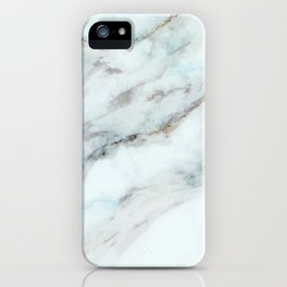 White and gray faux marble iPhone Case