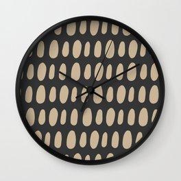 Brush Strokes Gold Wall Clock