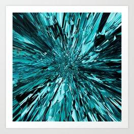 broken glass sea Art Print