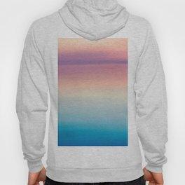Modern watercolor navy blue pink sunset pattern Hoody