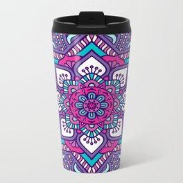 mandala morada Metal Travel Mug