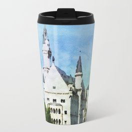 Neuschwanstein castle in watercolor Travel Mug