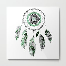 Green dreamcathcer Metal Print