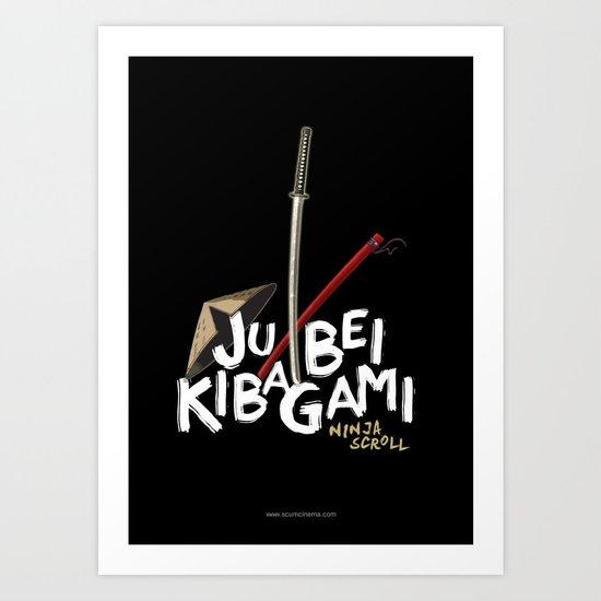 Ninja Scroll – Jubei Kibagami Art Print