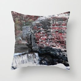 Mission Dam in the Fall Throw Pillow