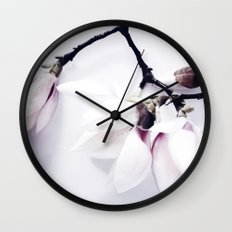 Magnolia Love Wall Clock
