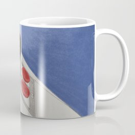 Classic Video Game Joystick in action drawing - Blue Coffee Mug