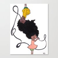 telephone Canvas Prints featuring Telephone by Little Sketches by Raj D