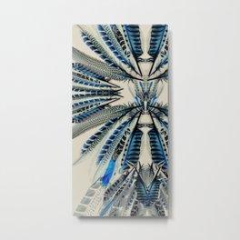 Blue wing feathers bird wings Metal Print