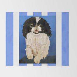 Peke Paisley Throw Blanket